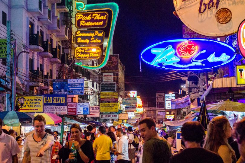 How has Khao San Road changed, Bangkok, Thailand