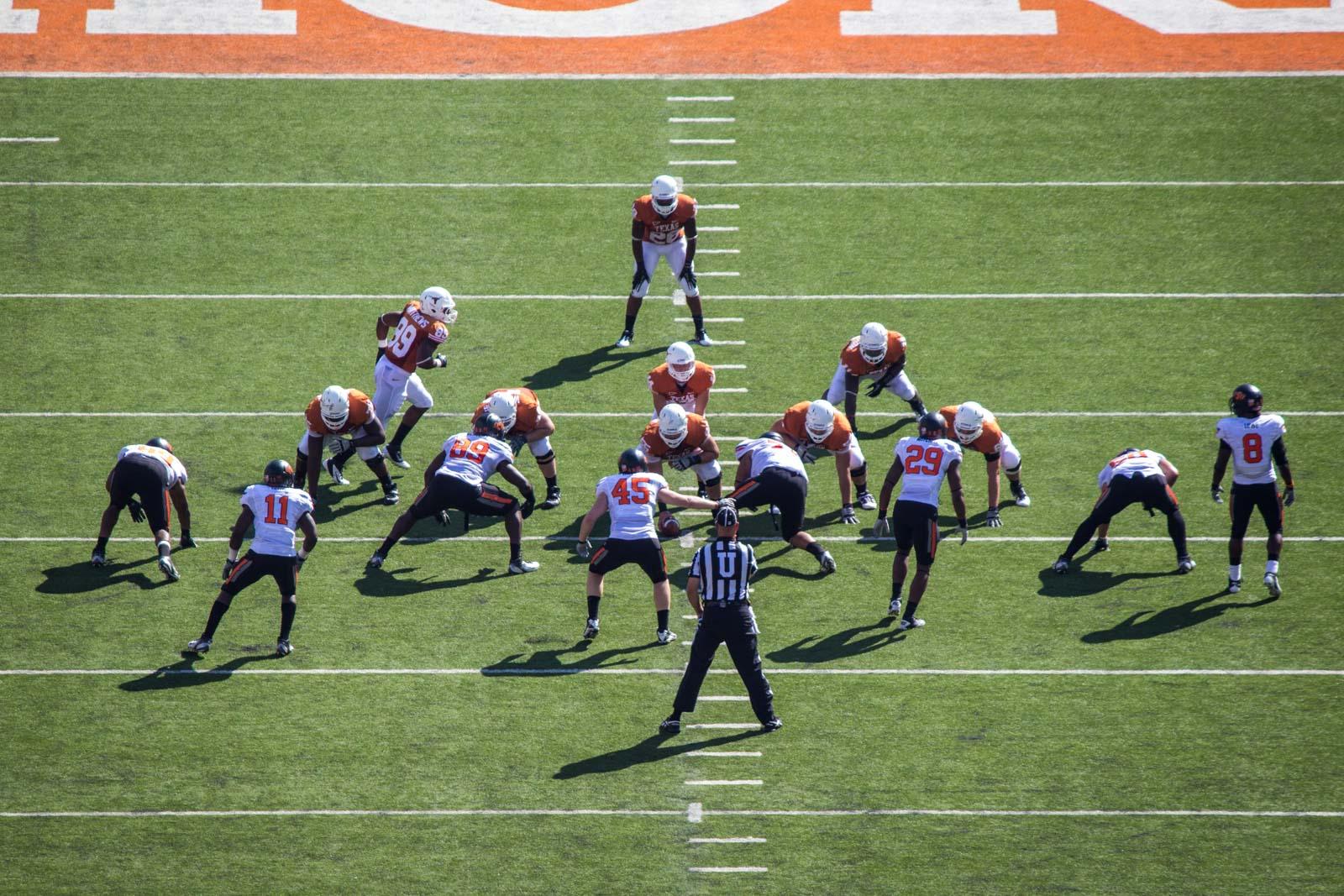 Texas college football in Austin, Texas, USA
