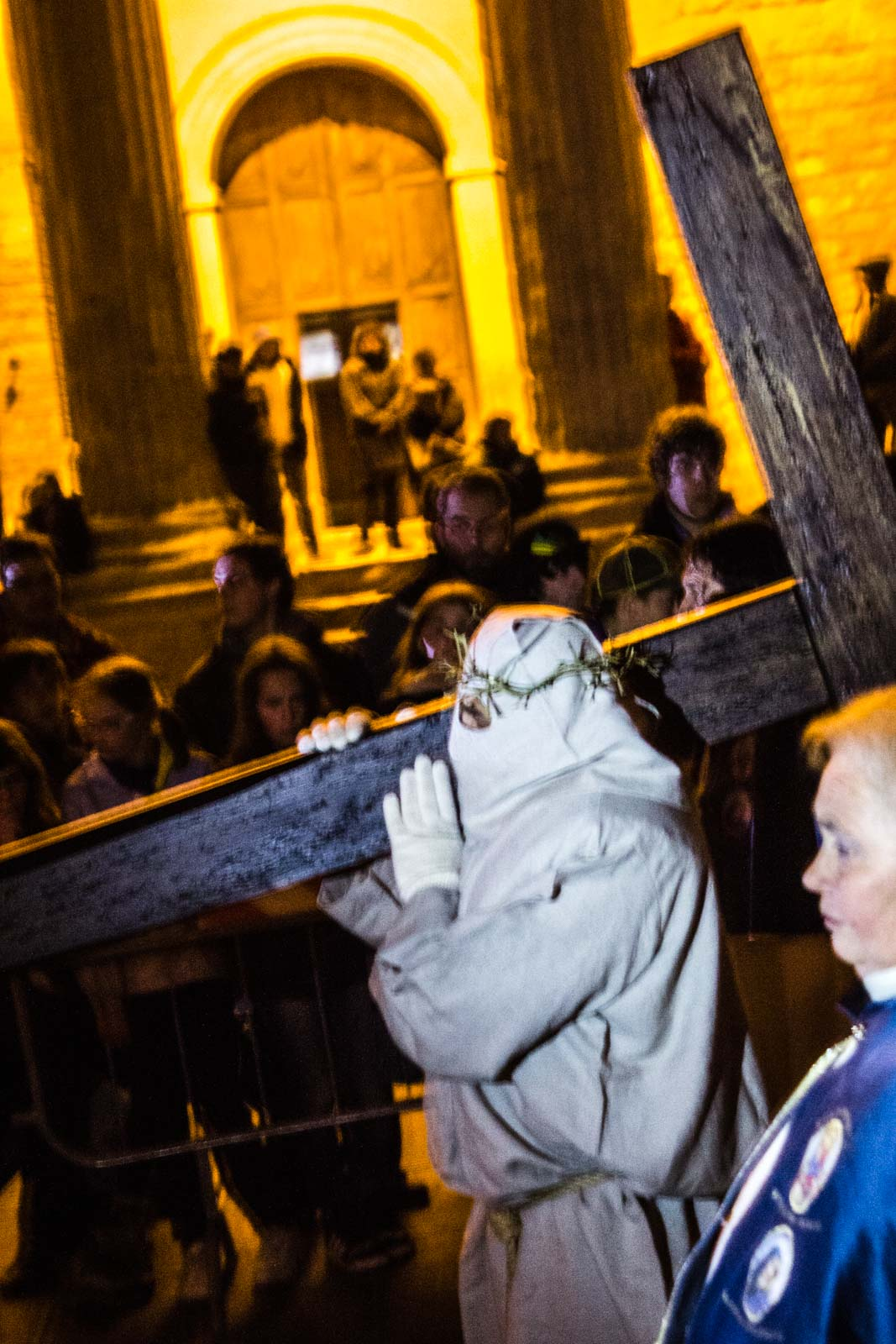 Procession on Good Friday in Assisi, Italy
