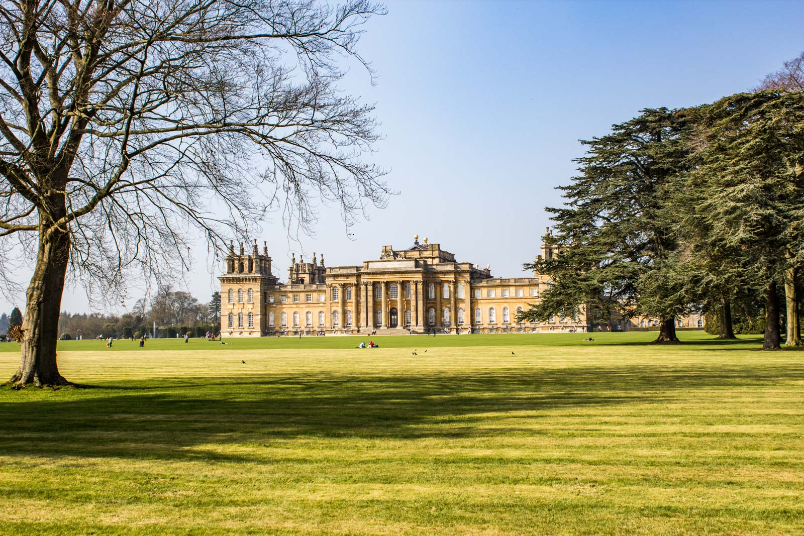 Visiting Blenheim Palace near Oxford, England