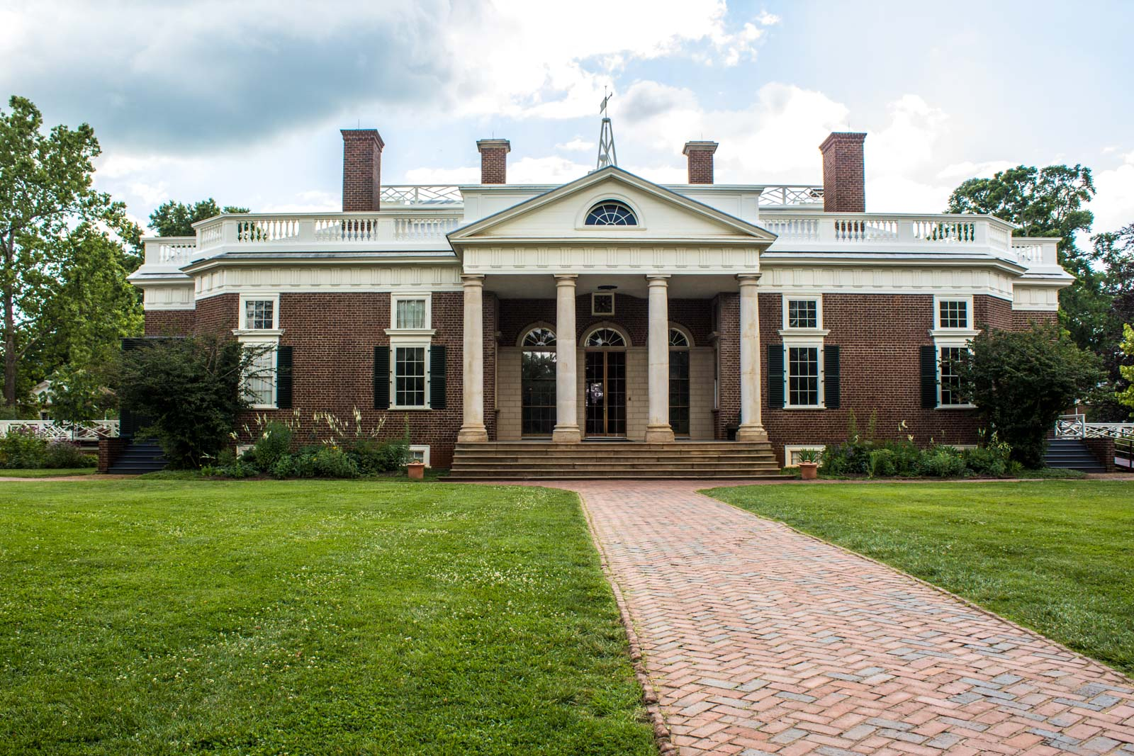 Excellent Thomas Jeffersons House Monticello Virginia Home Interior And Landscaping Synyenasavecom