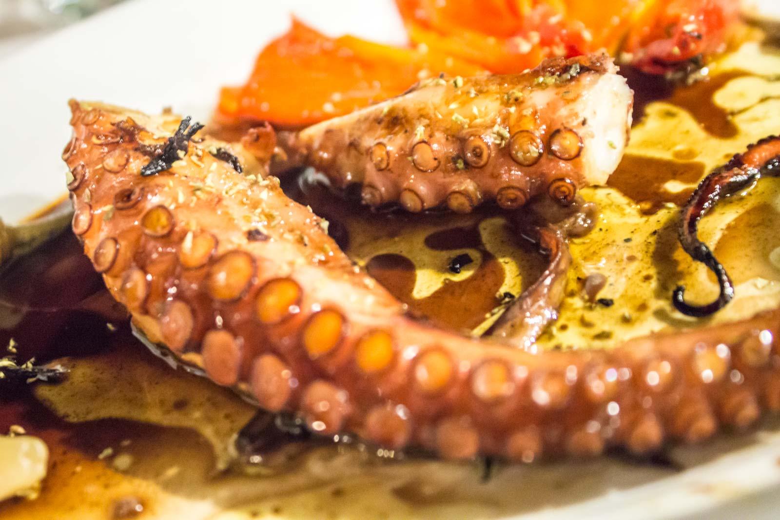 Traditional taverna on Kefallinia, Greek island food