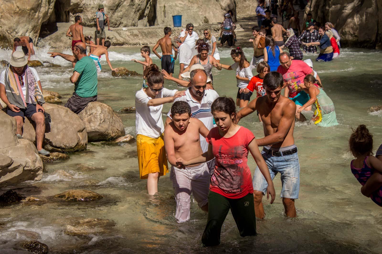 Saklikent Gorge Canyon near Fethiye, Turkey