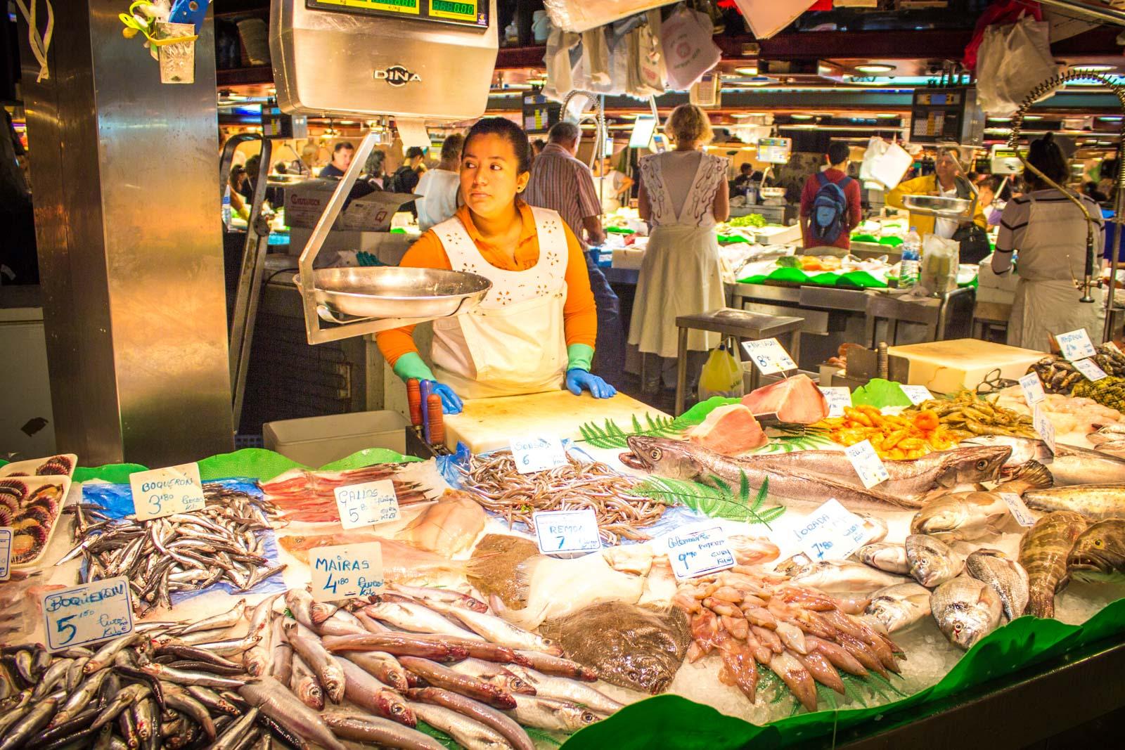 La Boqueria Markets, Barcelona, Spain