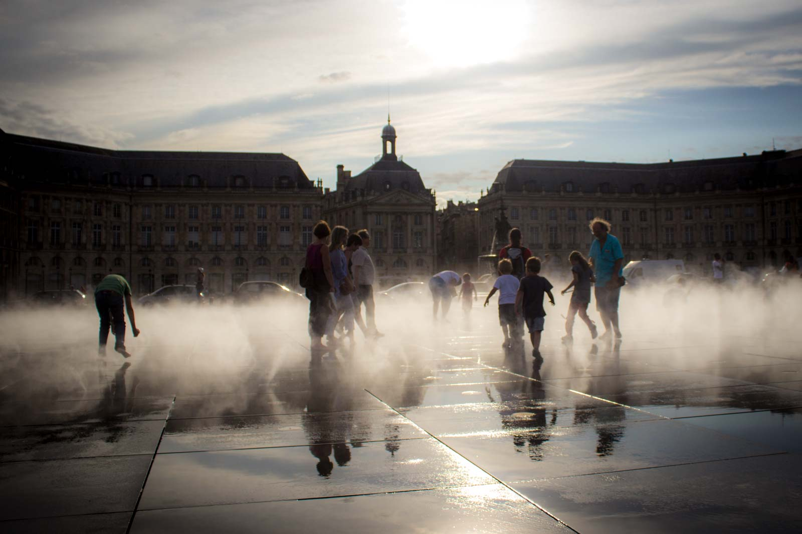 Fountains in Bordeaux, France