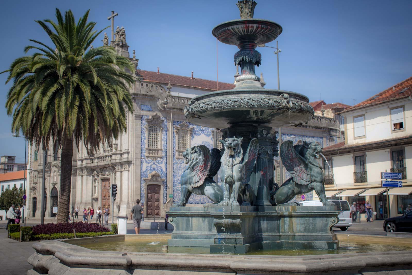 Derelict buildings in Oporto, Portugal