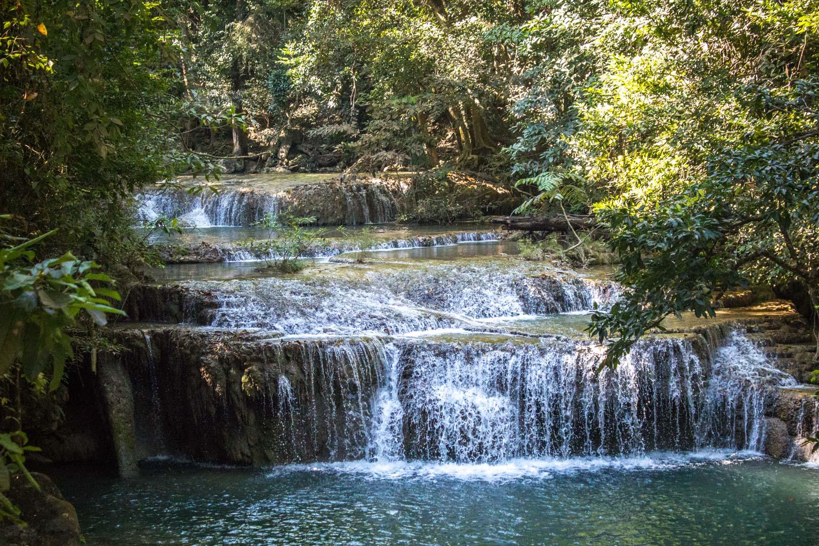 Erawan Falls, waterfalls near kanchanaburi, Thailand