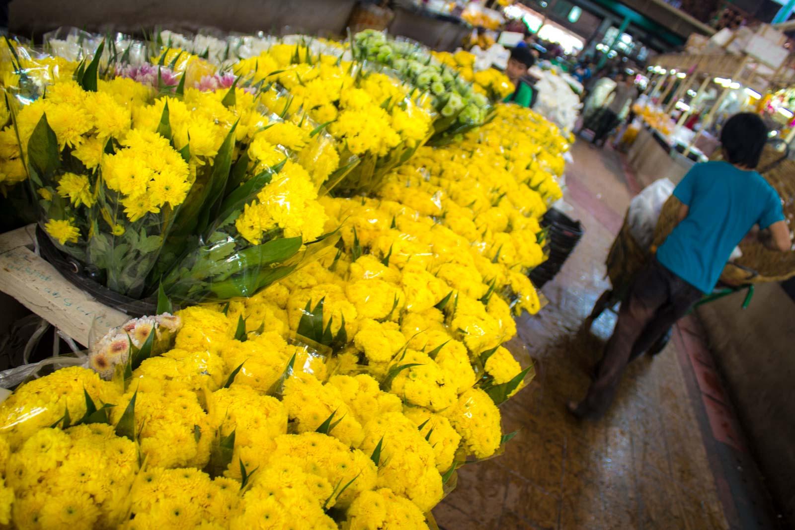 Yodpiman Flower Market, Bangkok, Thailand