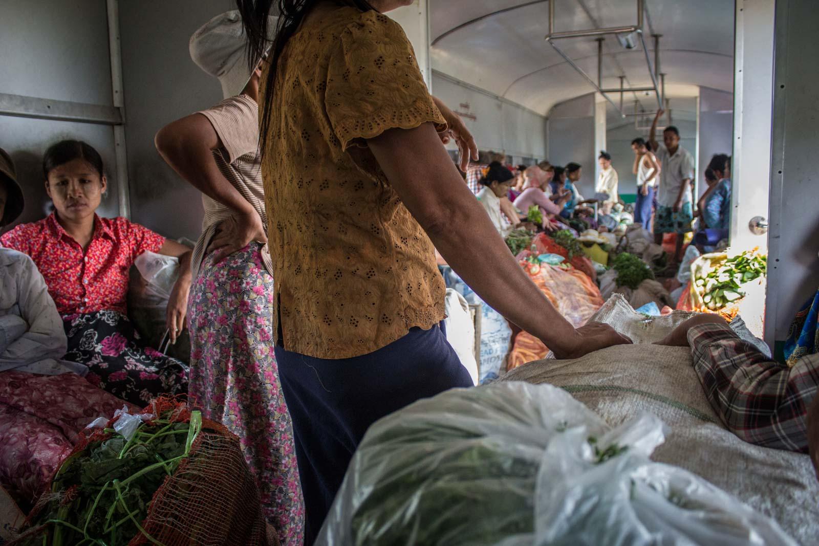 Circle Line Train, Yangon, Myanmar