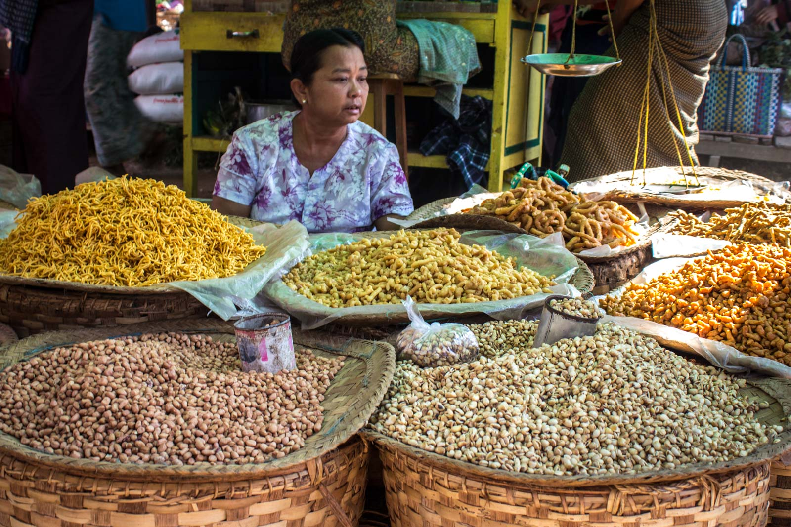 Local market around Inle Lake at Myanmar