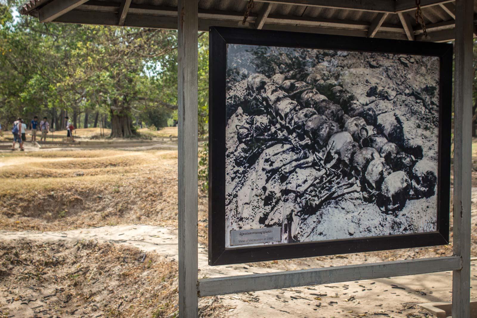 killing fields near phnom penh. choeung ek genocidal centre, cambodia