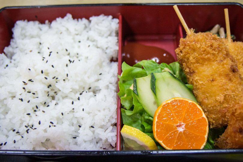 kushikatsu, japanese food, japanese dishes, fried food on a stick, snack food in japan
