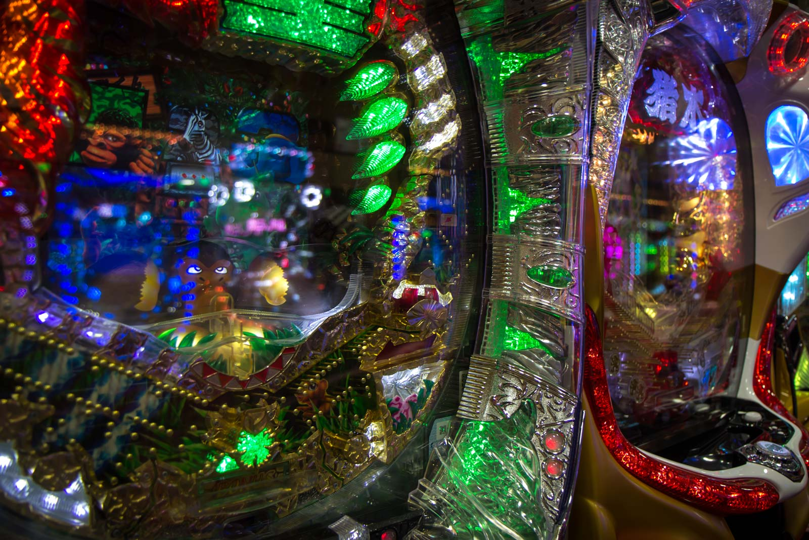 pachinko, japan, game with silver balls, gambling in japan, pachinko parlours