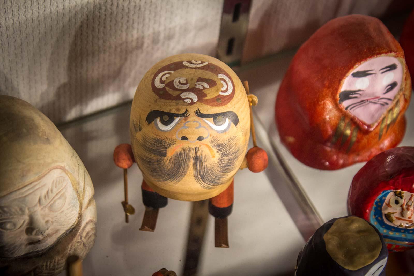 Daruma dolls and the Daruma temple in Takasaki, Japan