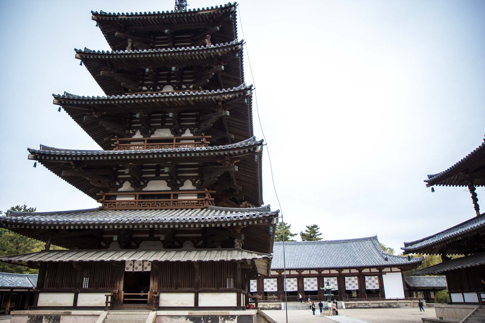 horyuji, japan, world's oldest wooden building, near nara, temple, history, world heritage, pagoda