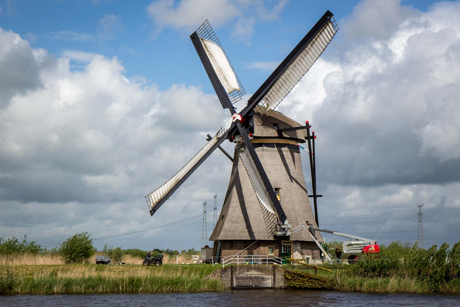 Kinderdijk, Windmills near Rotterdam, The Netherlands
