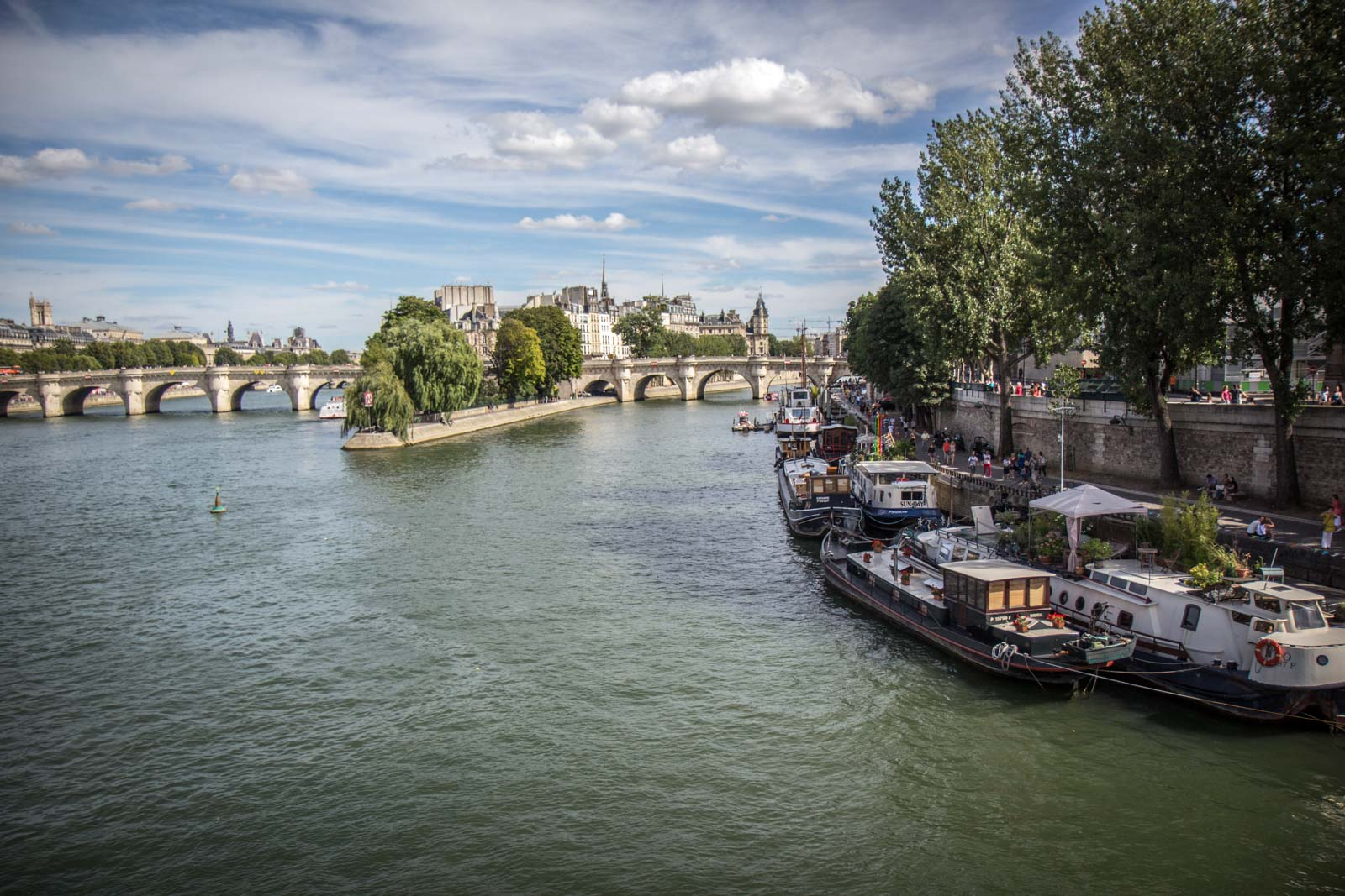 Along the bank of the Seine, Paris, France