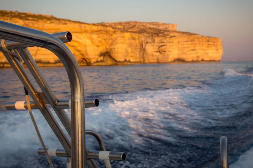 Taking a boat around Gozo