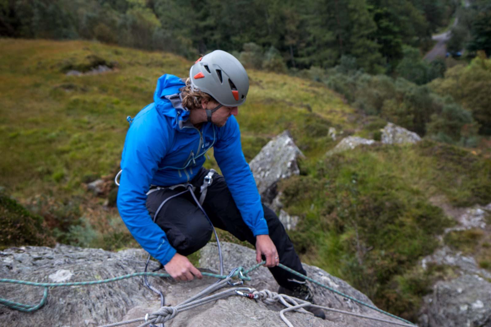 Rock climbing in Scotland