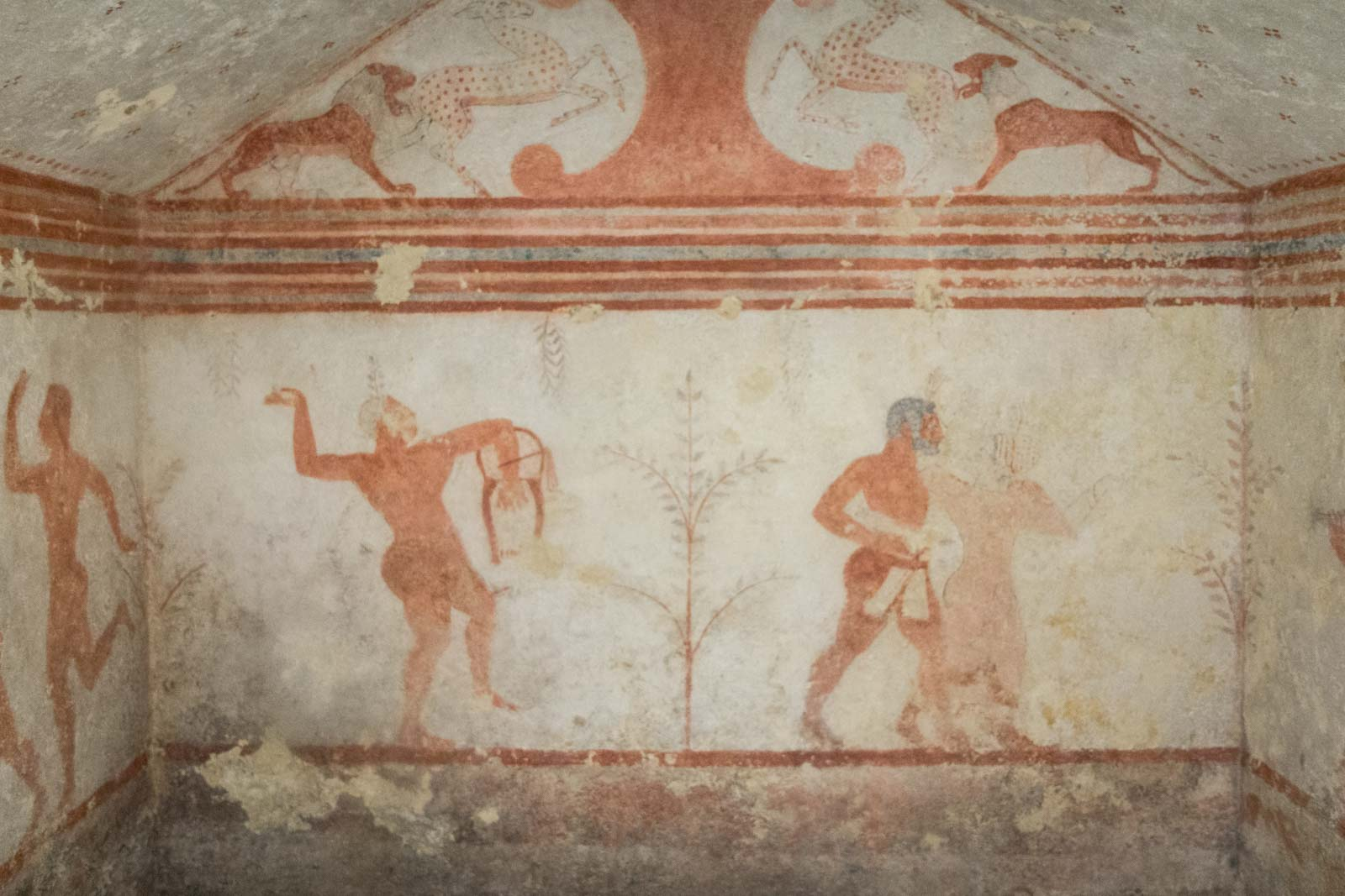 Etruscan tombs at Tarquinia, Italy