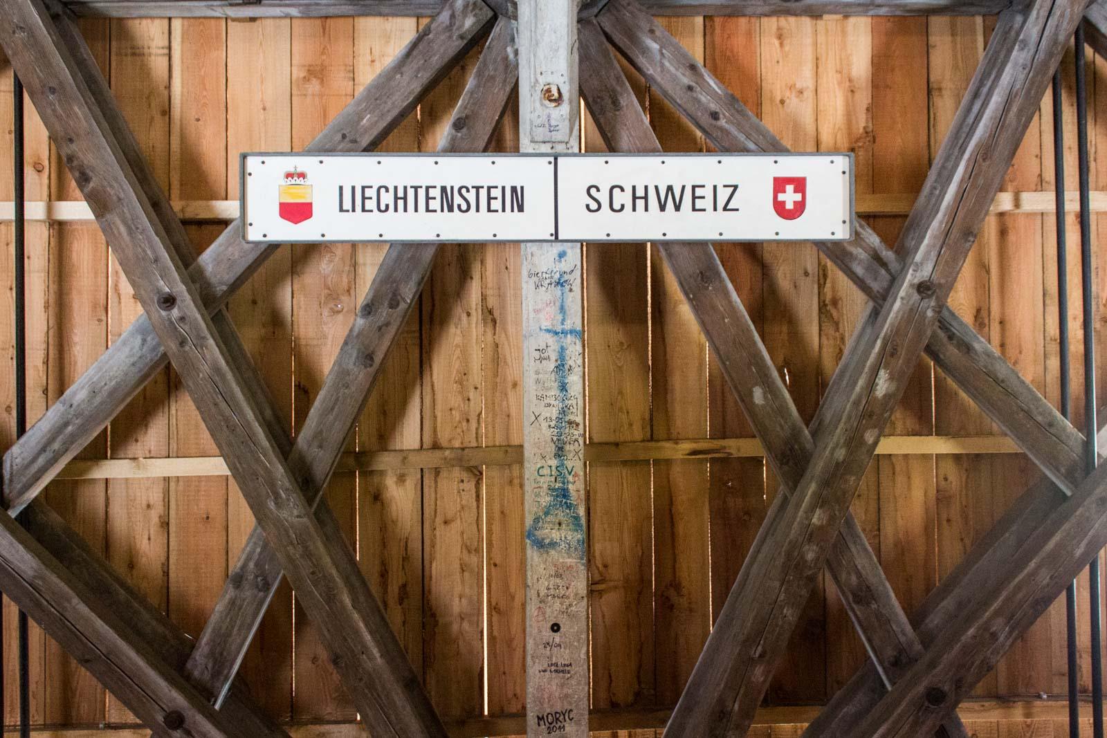 Walking across Liechtenstein