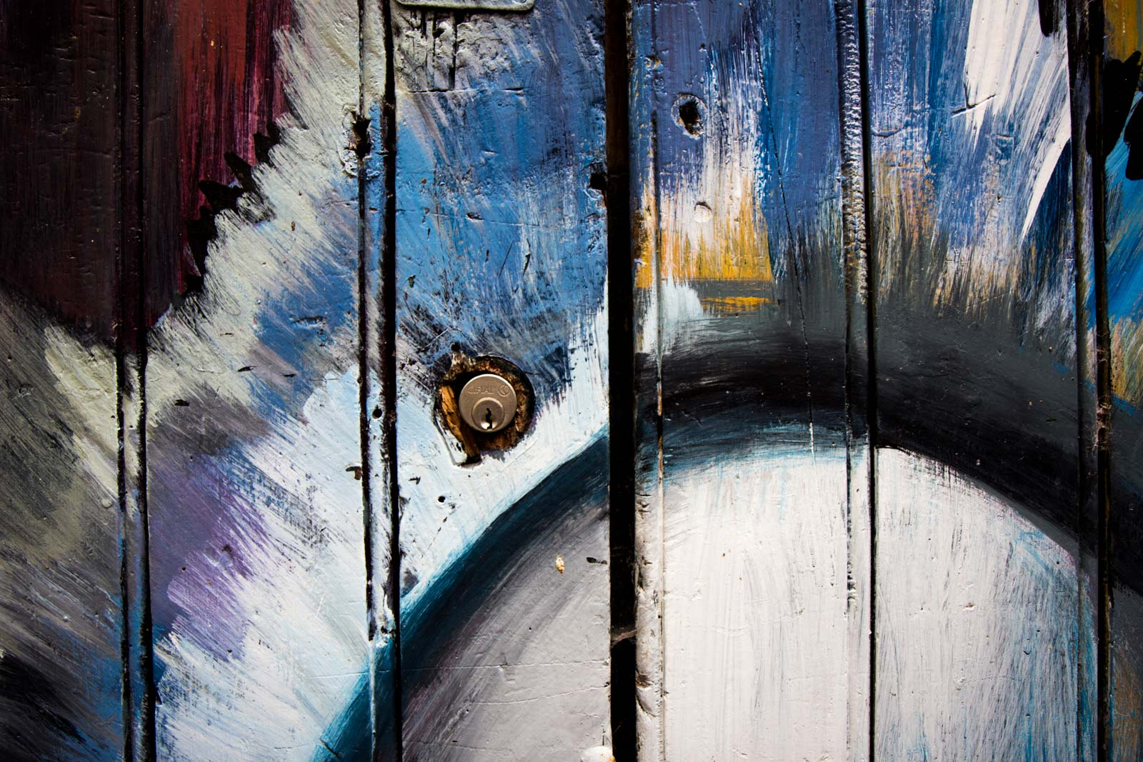 Painted doors in Funchal, Madeira
