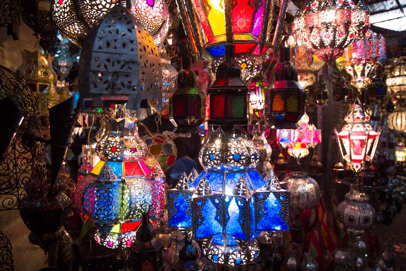 Marrakech souks in the medina, Morocco