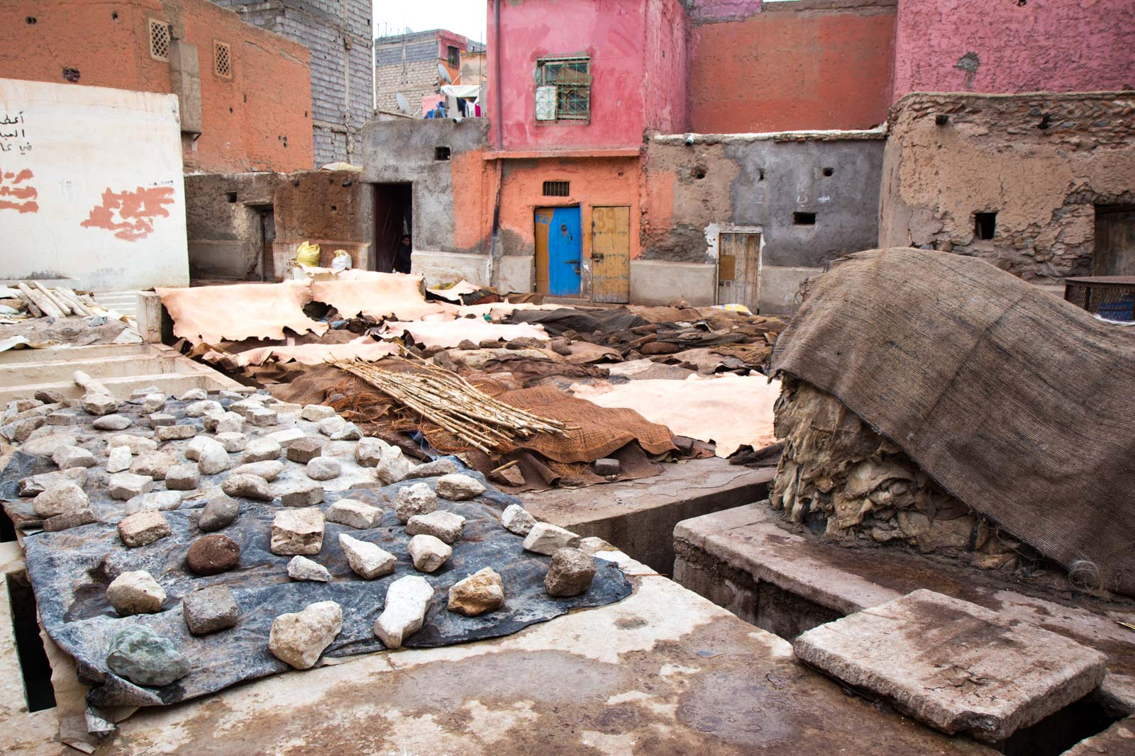 The tanneries, Marrakech, Morocco