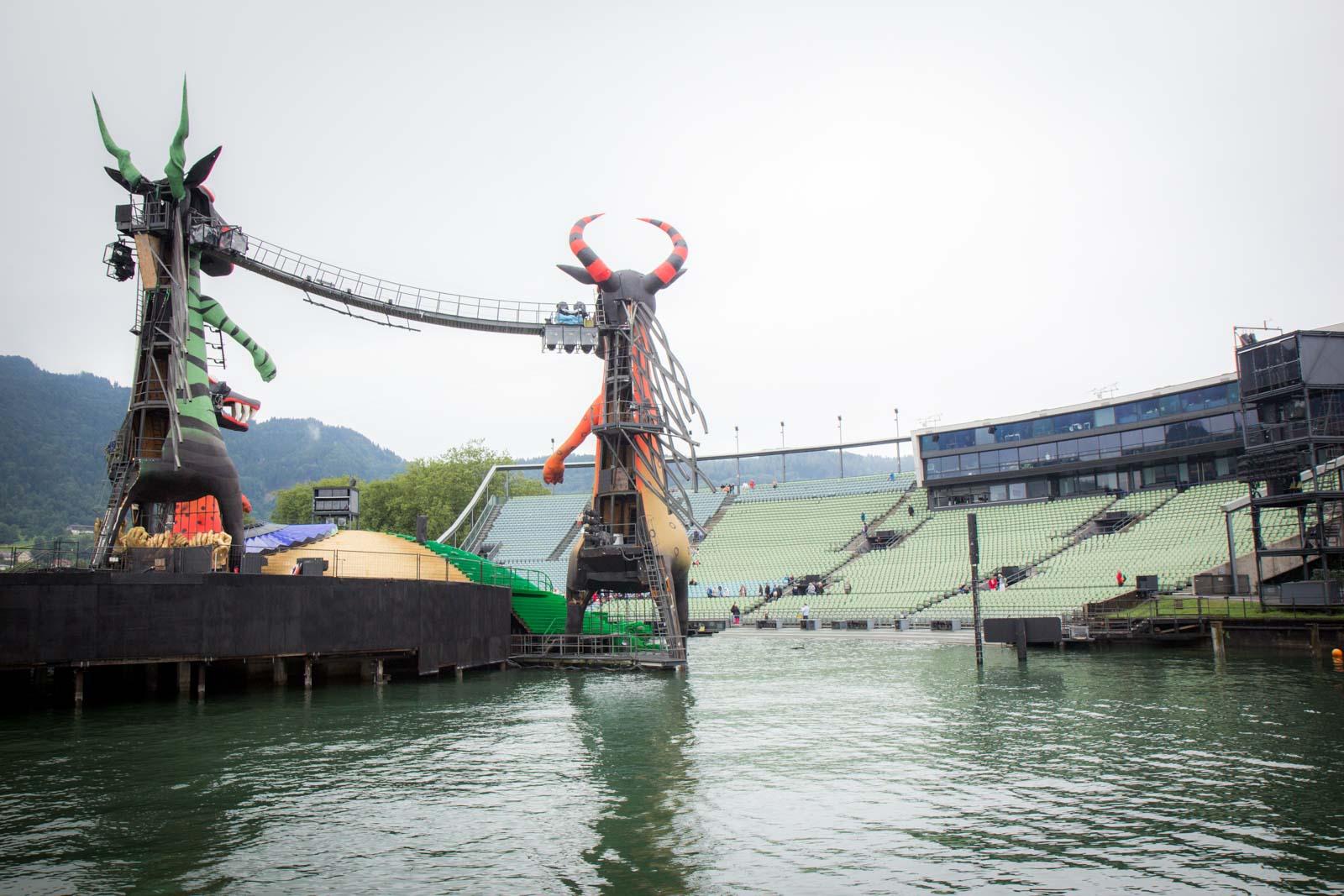 Behind the scenes, lake stage, bregenz festival, austria