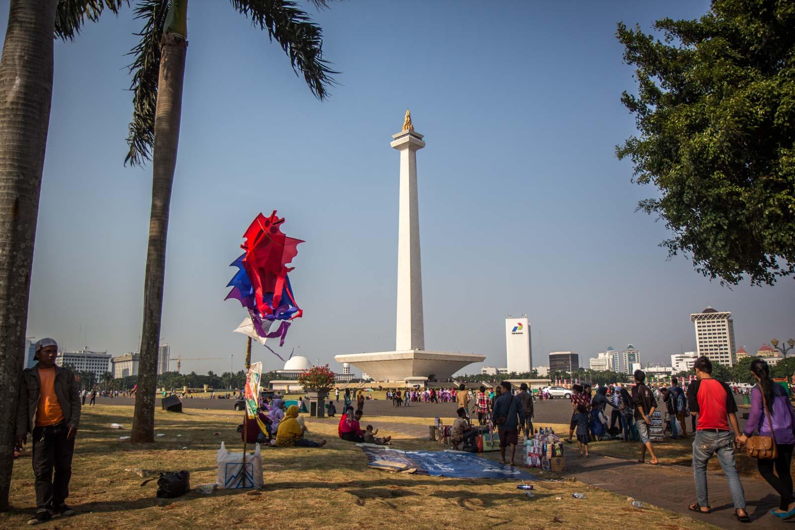 National Monument area, Jakarta, Indonesia
