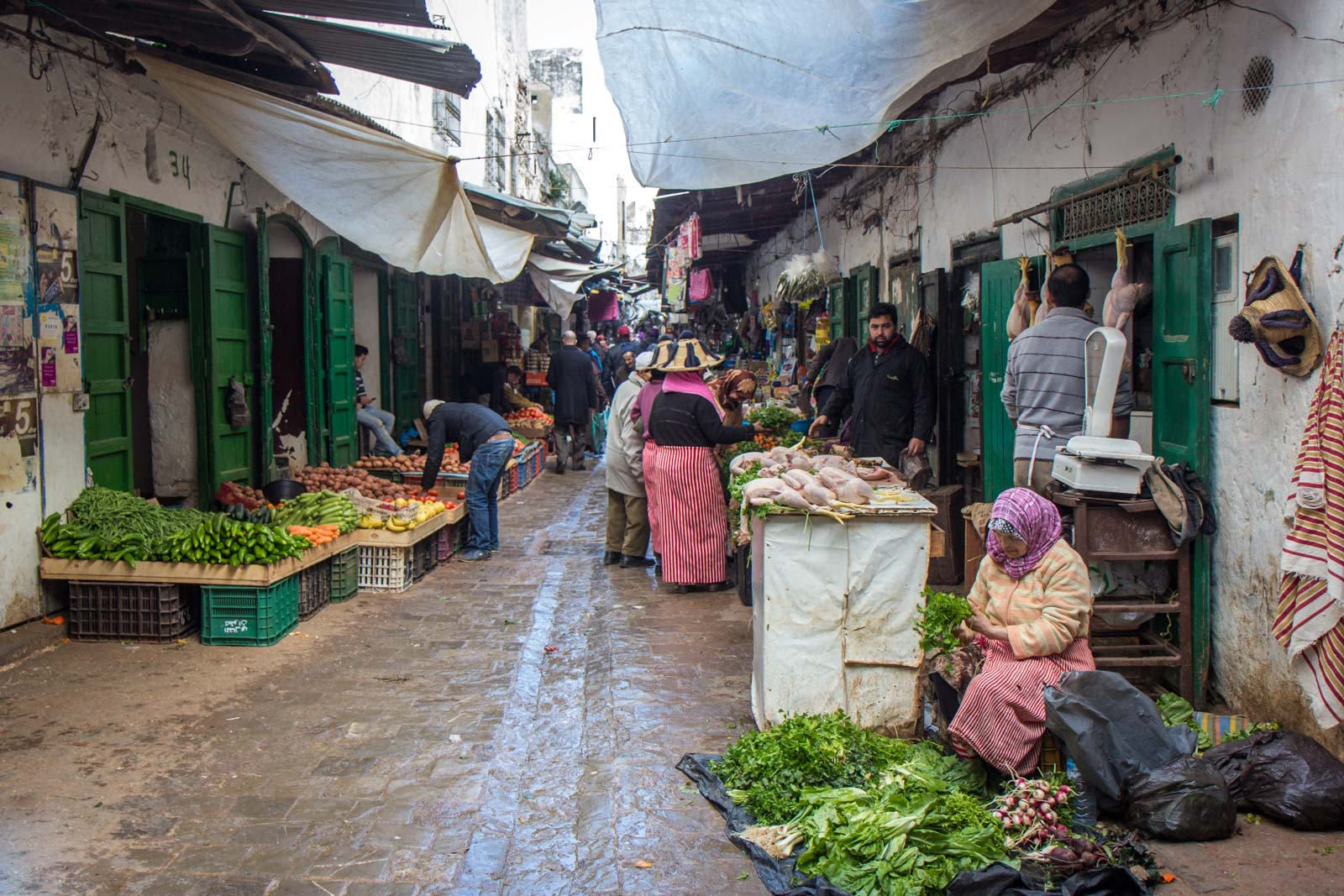 Local market in Tetouan, Morocco