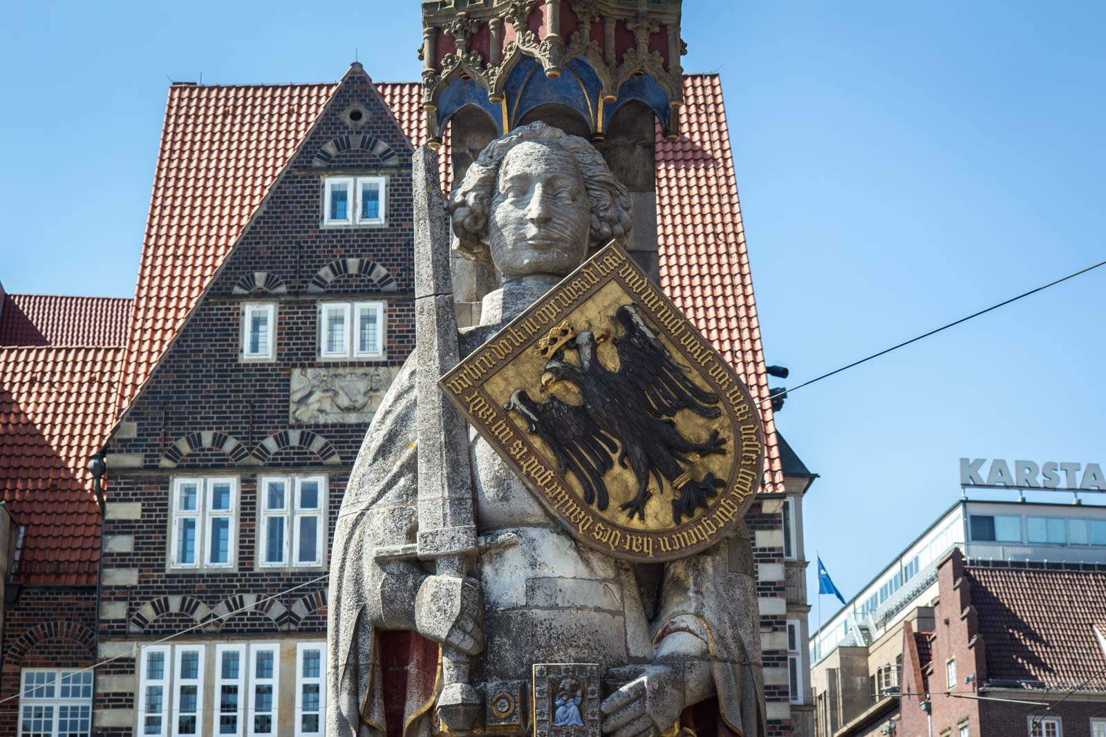 Town Hall and Roland on the Marketplace of Bremen, Germany