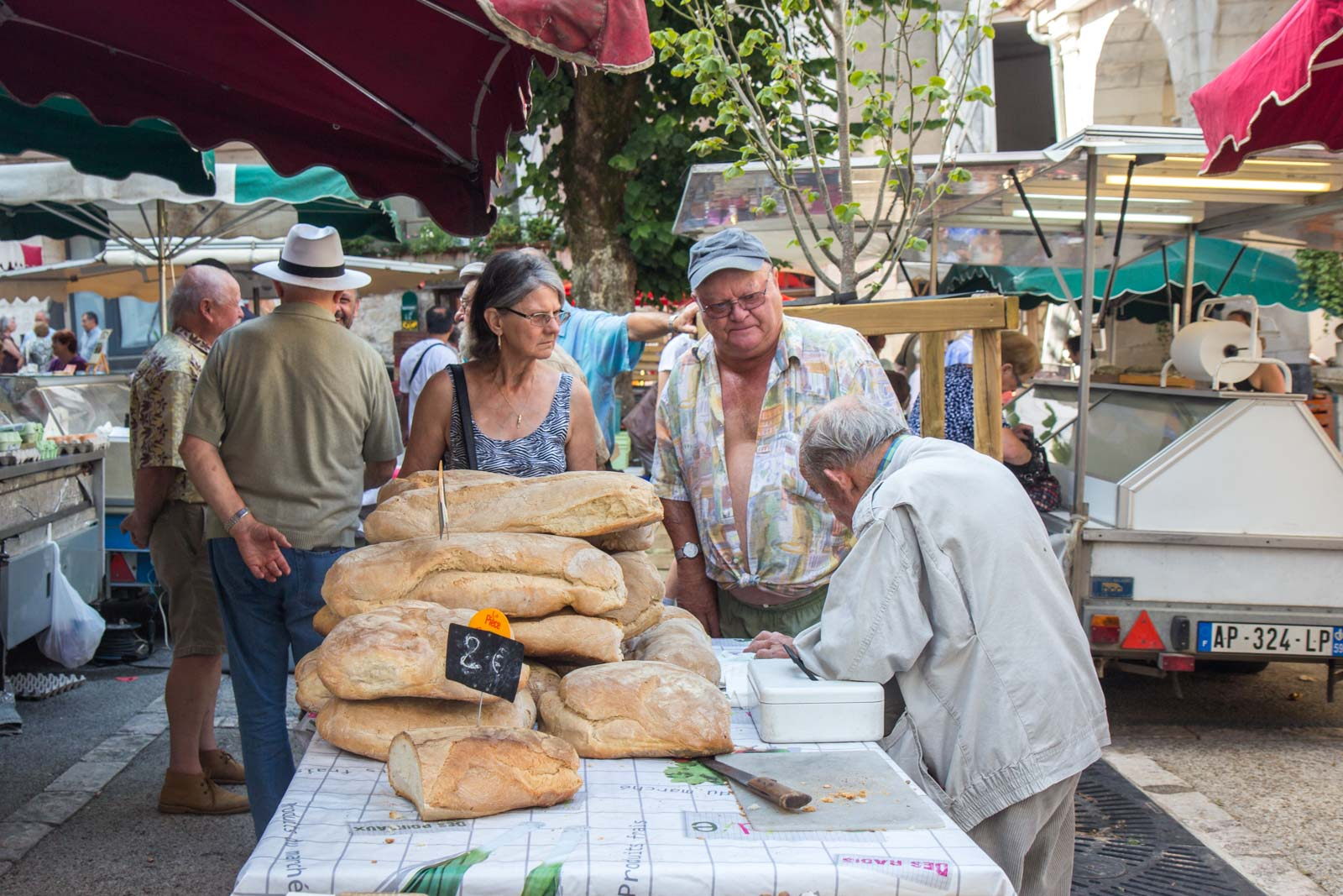 Souillac market day, France