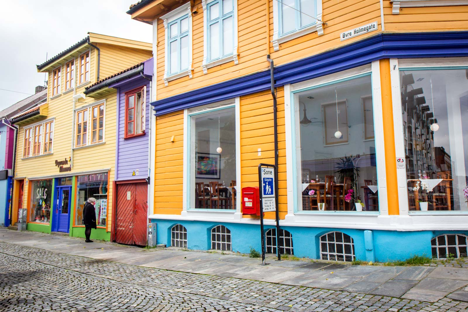 Old wooden buildings in Stavanger, Norway