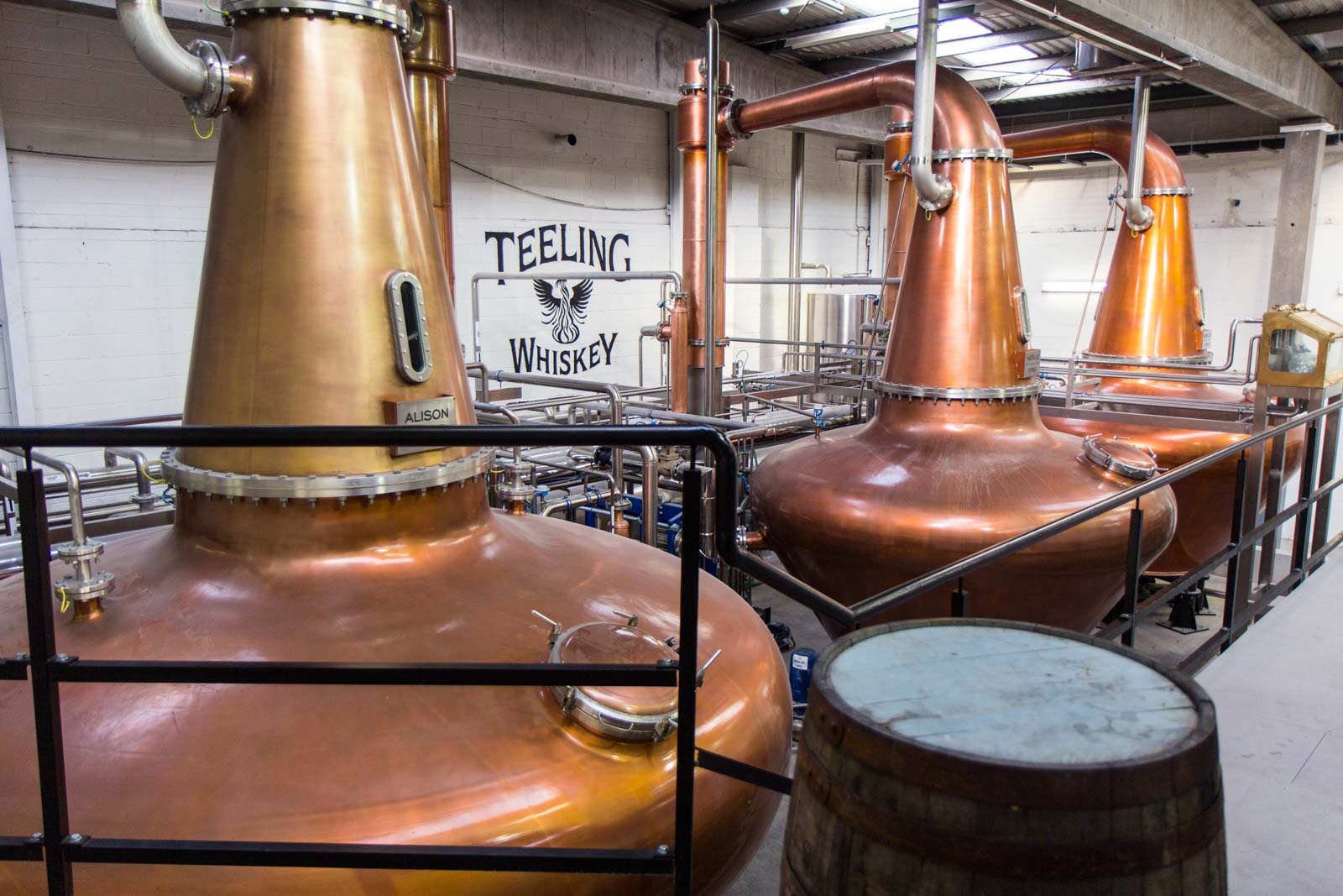 Teeling Whiskey distillery tour, Dublin, Ireland
