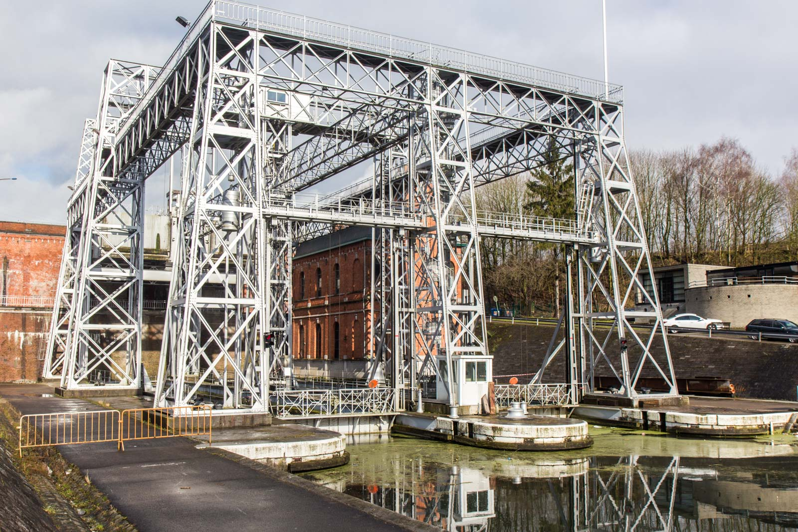 Four lifts on the Canal du Centre, Belgium