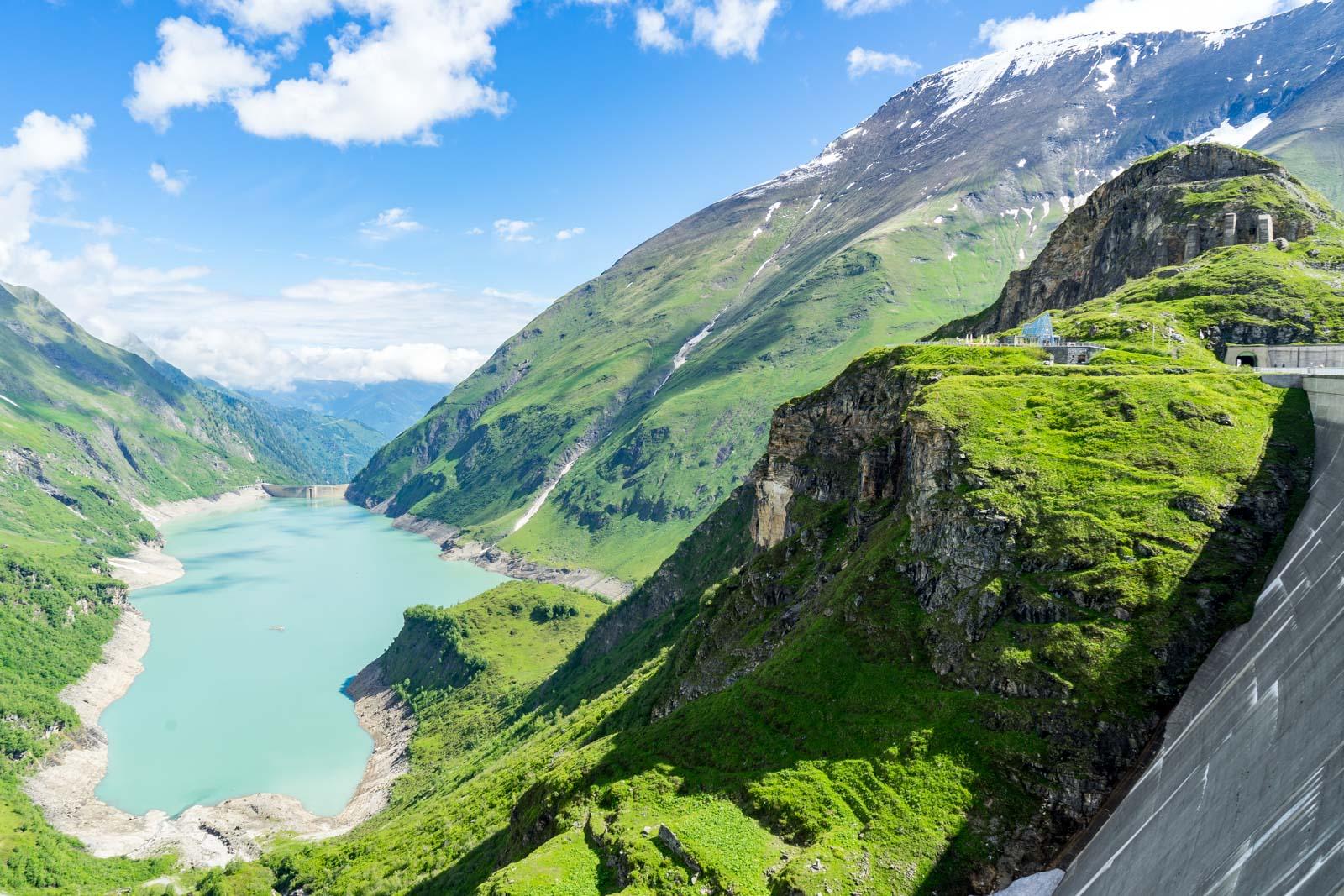 Hiking the dams above Kaprun, Zell am See, Austria