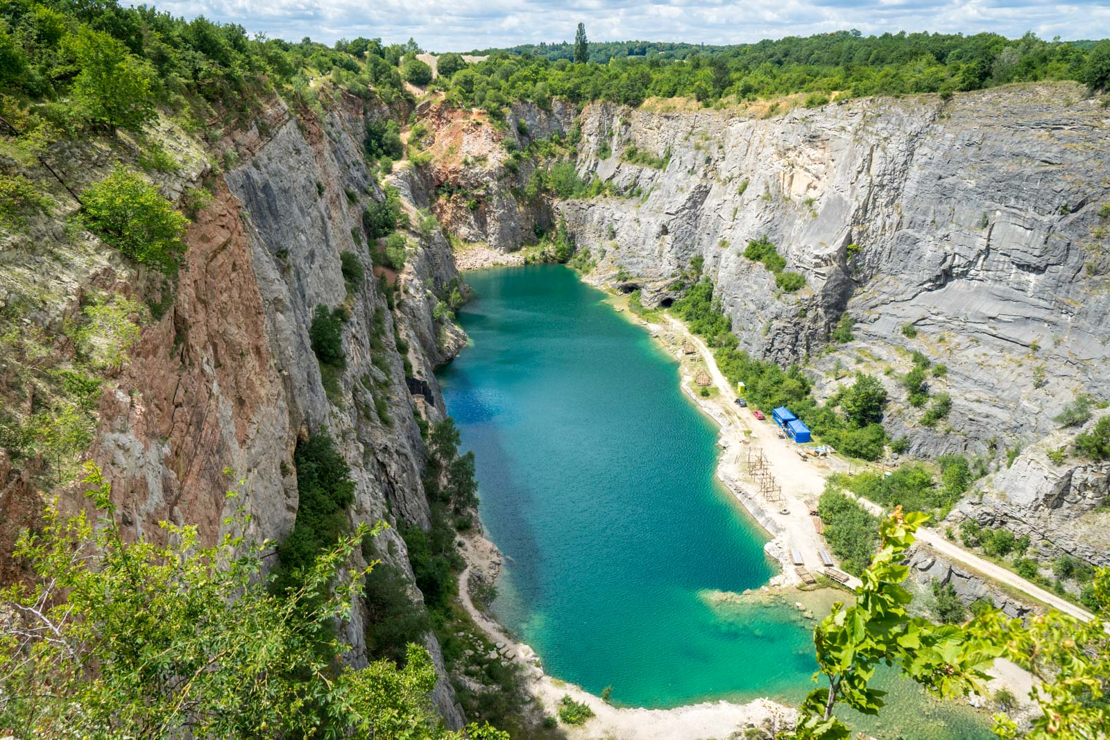 Velka Amerika Quarry, Karlstejn, Czech Republic