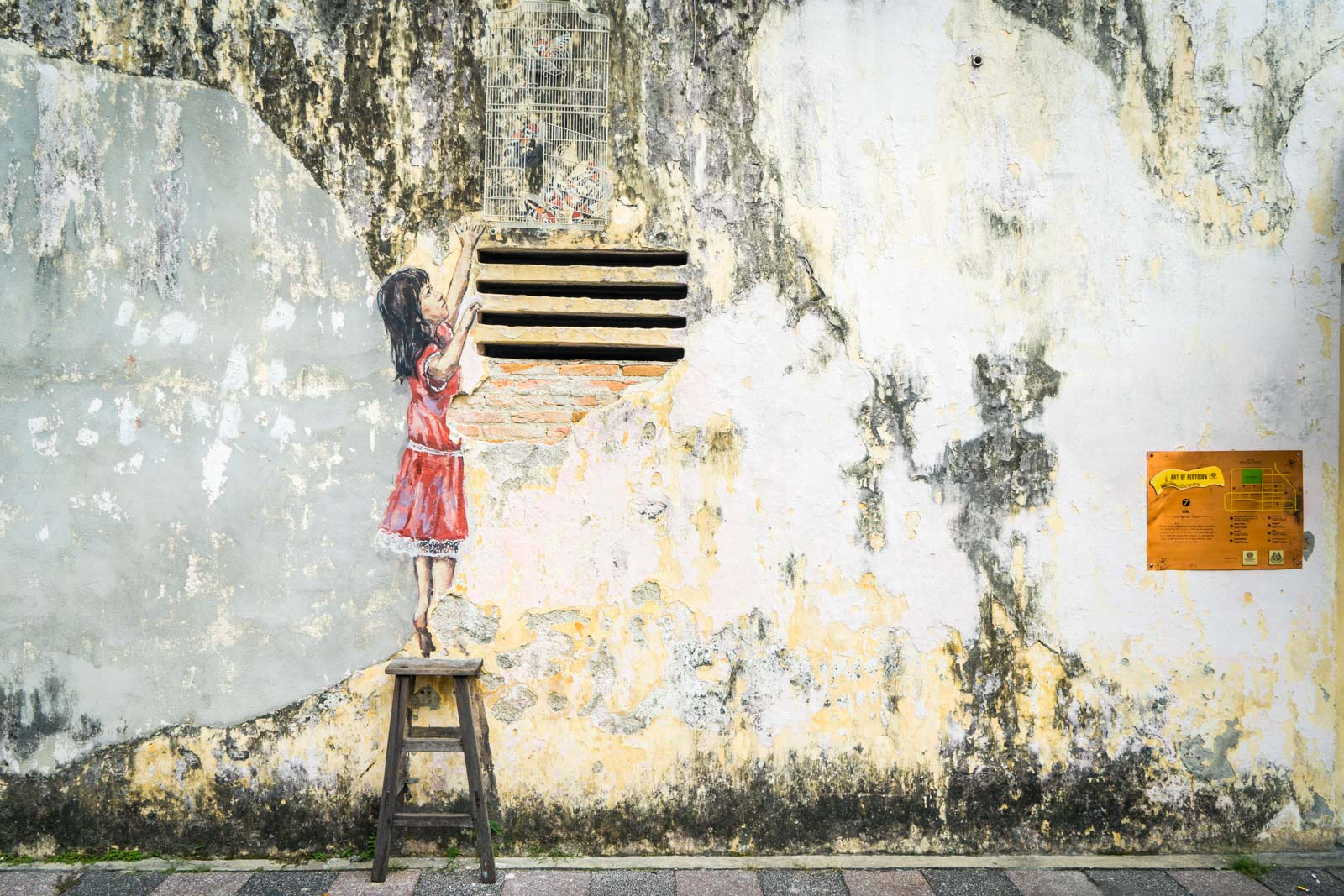Street art and hipsters, Ipoh, Malaysia