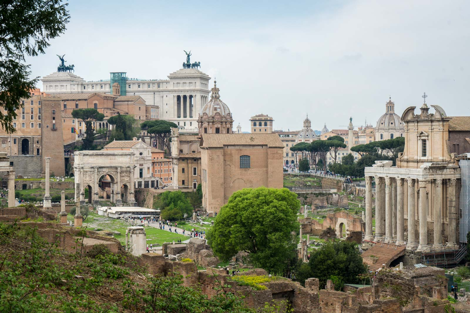 The Roman Forum and Palatine Hill in Rome, Italy