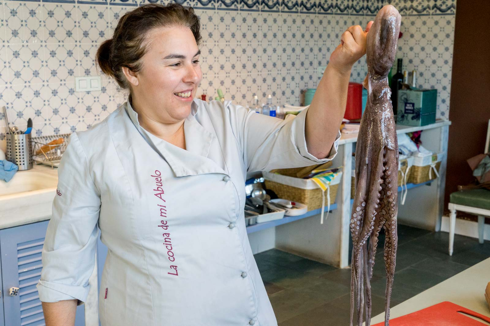 Cooking lesson, Galicia, Spain
