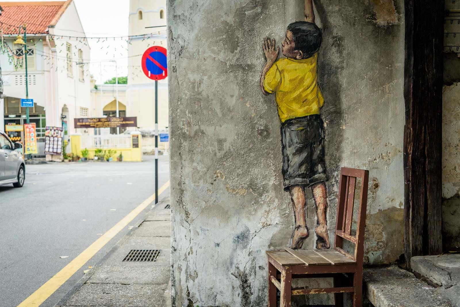 Street art in George Town, Malaysia