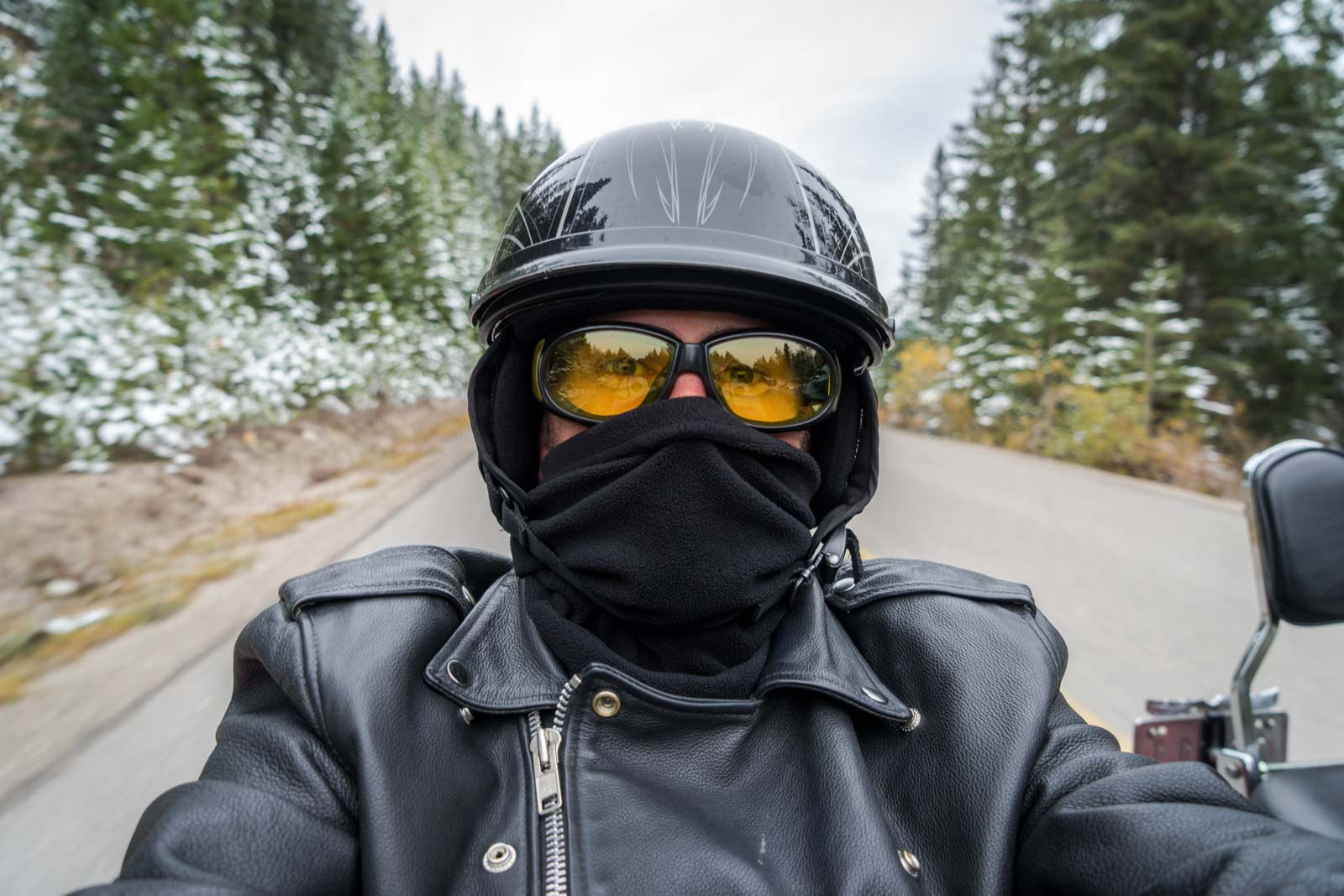 Motorcycle tour, Jasper, Alberta, Canada