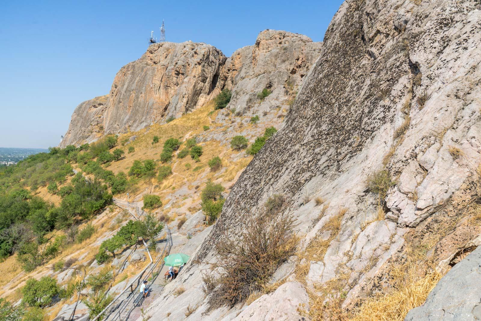 Visiting Sulaiman-Too Sacred Mountain, Osh, Kyrgyzstan