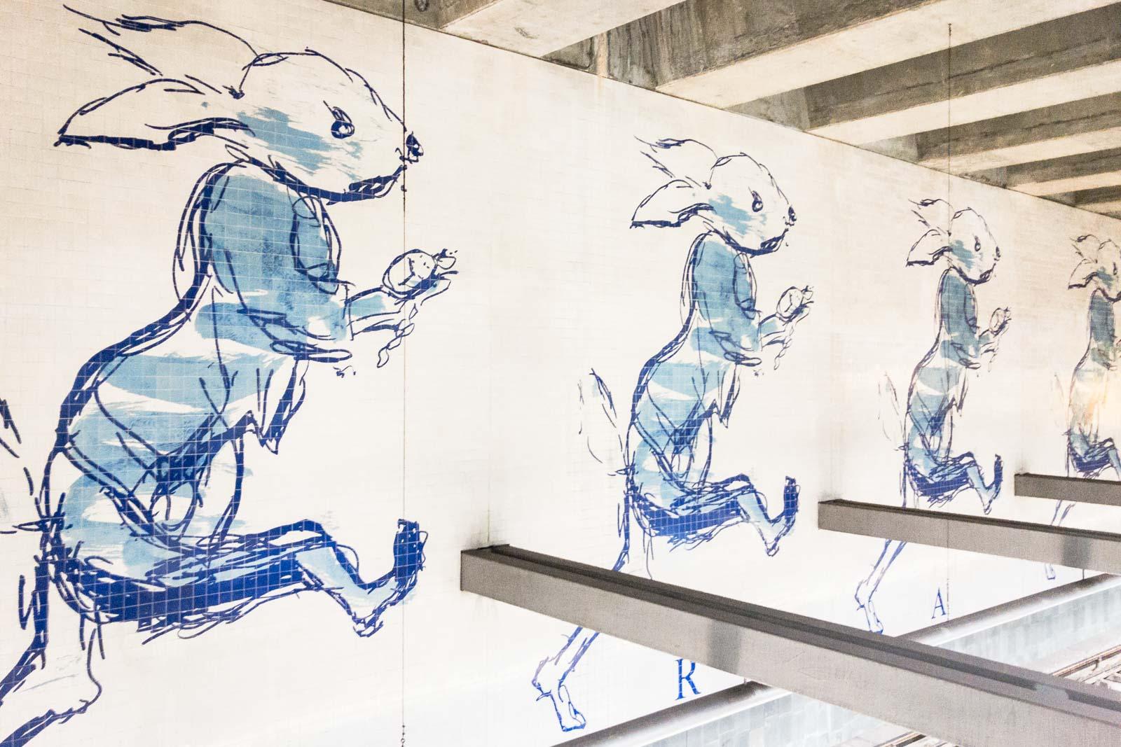 Cais do Sodre, Lisbon Metro Art