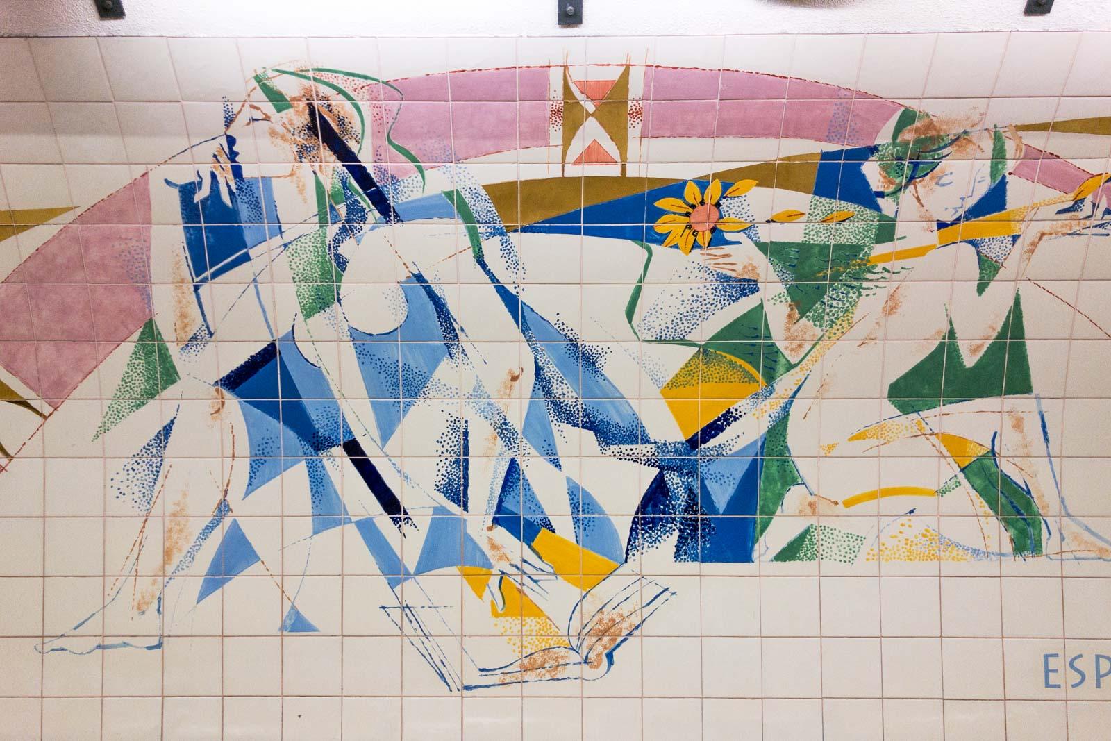 Saldanha, Lisbon Metro Art