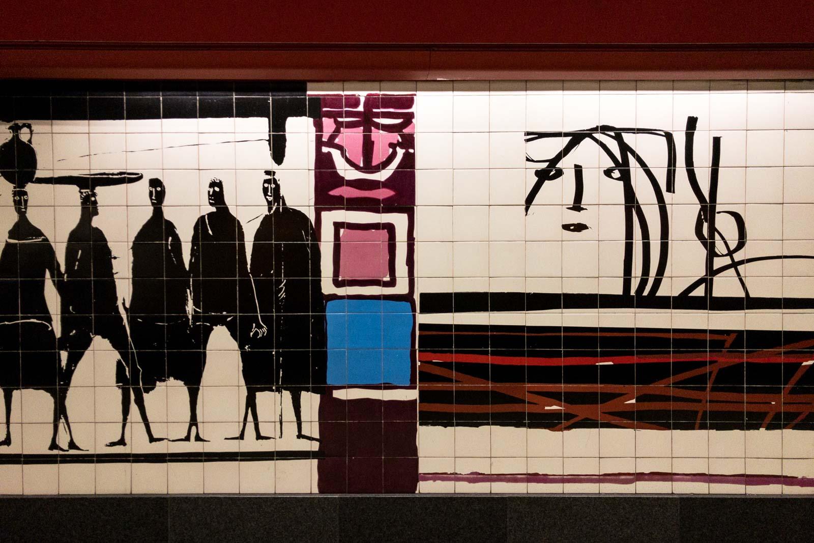 Picoas, Lisbon Metro Art