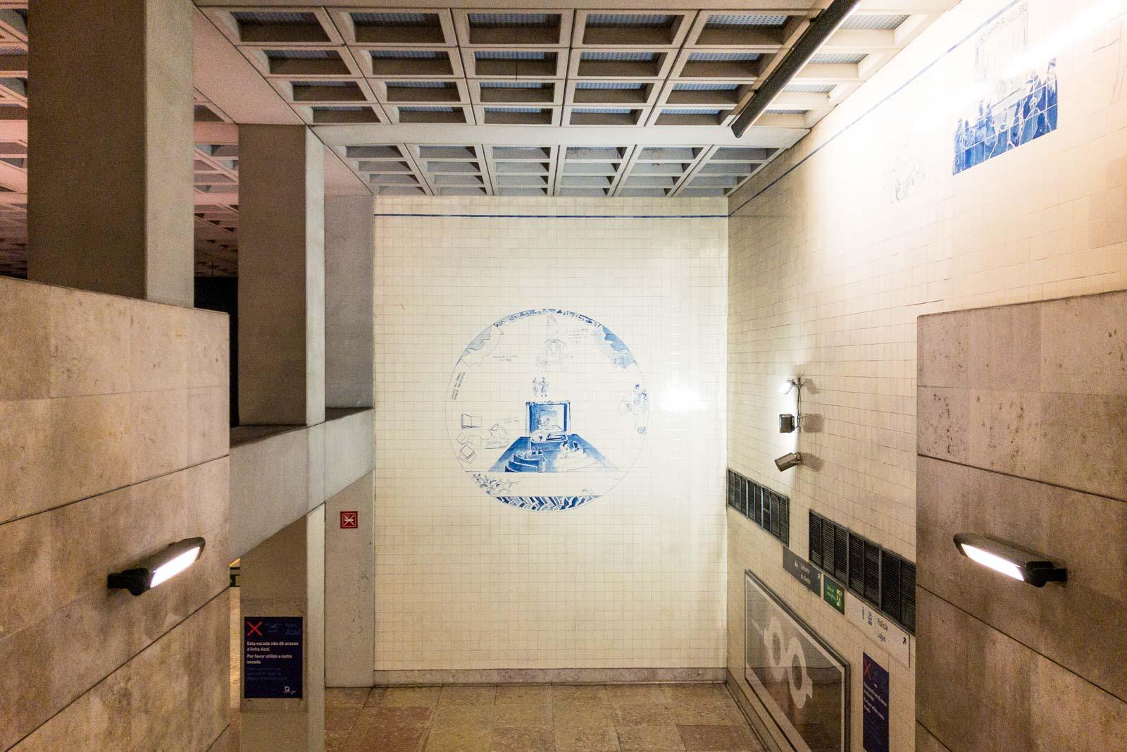 Lisbon Metro station art, Portugal