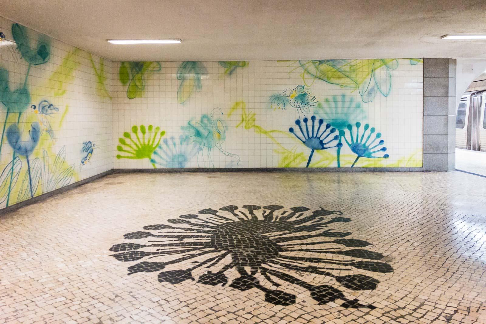 Jardim Zoológico, Lisbon Metro Art