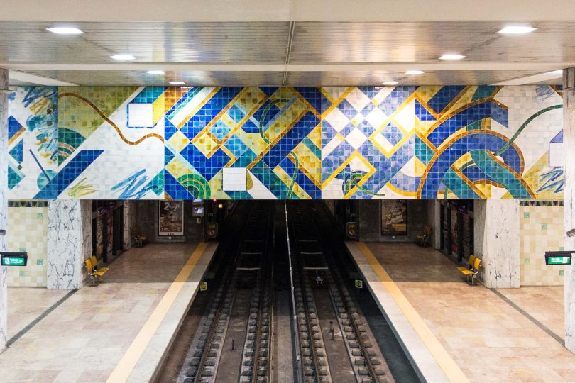 Art in Lisbon Metro, Portugal